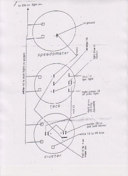 wiring for kirk s vs combi gauge speedsterowners com 356 rh speedsterowners com Porsche 912 Wiring-Diagram Porsche Wiring Schematics