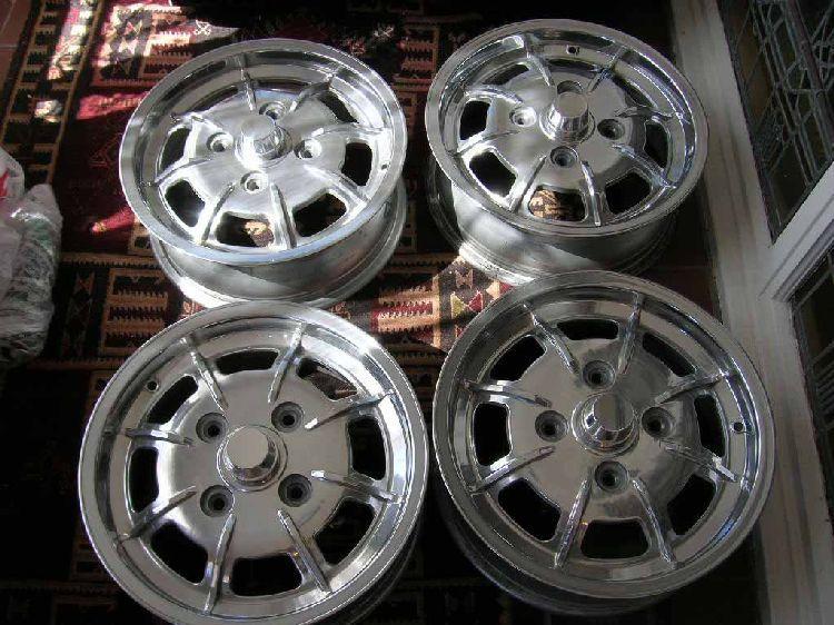 5 Mahle 914 Porsche Vw Aluminum Alloy Rims