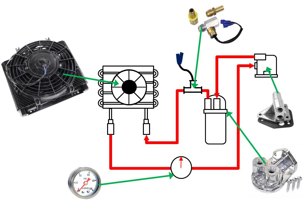 Wiring Diagram Database  Vw Full Flow Oil System Diagram