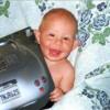 0 happy little boy with Porsche photo