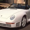 Real Porsche 959 Speedster Becker: When a Porsche Race Car Driver rolled an original 959 on the Autobon the owner brought the car to Becker a German Tuning and Porsche Shop. Becker removed the crushed roof and used parts from the Porsche 911 Speedster 3.2 to build this car!