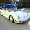 Replica Porsche 959 Speedster: Others copied the look of the Becker Car using Aftermarket 959 fiberglass body panels and Porsche 911 Speedster parts such as the windshield assy.