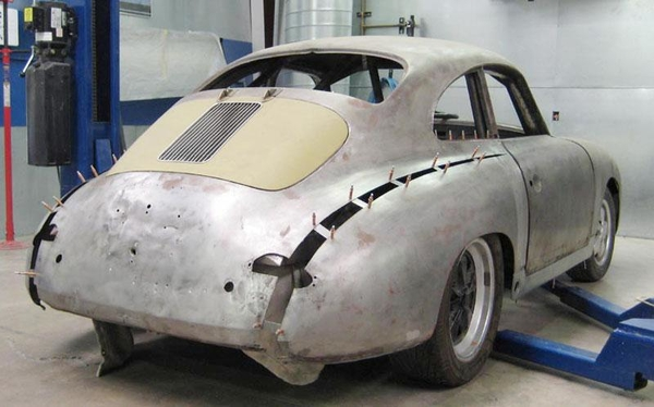 356 coupe widening rear fenders