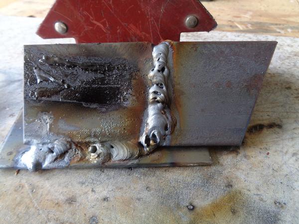 Vertical-test-weld