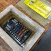 fuse box: Box with fuse panel installed