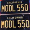 "Spyder Model 550 Plates: California ""Legacy Style"" plates"