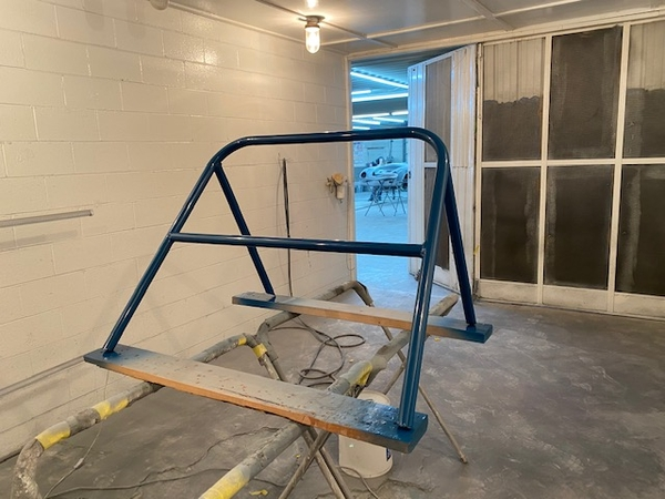 Roll bar painted 2