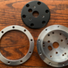 1 x 9 Hole Steering Wheel to 3,5,6 Hole Adapter - 3:4%22 Polished