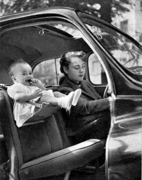 car seat in the 40s