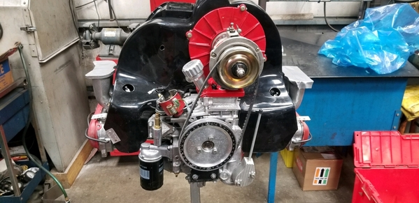 Type 4 2.8L engine near completion