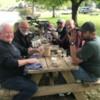 Maggie Valley 2020 Scotch tasting: Panhandle Bob, Mr. President, Danny P., Lenny C., Lane and Chris.