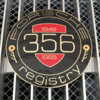 Porsche 356 Registry badge w/ binding posts