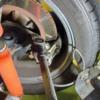 tigermoth66_brakehose3: Right wheel, steering full right