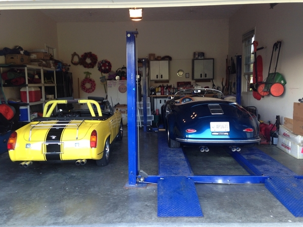 Speedster and MG Midget Jims Garage.