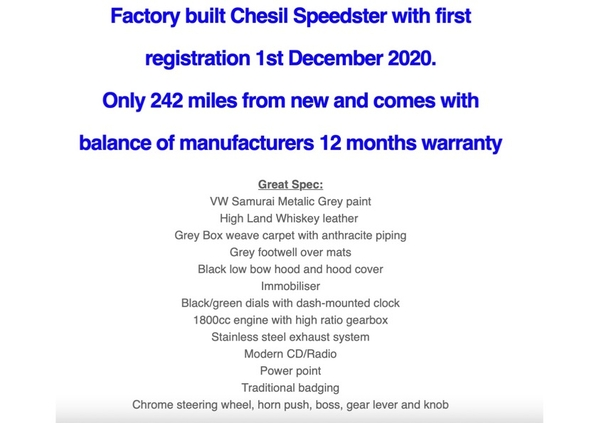 Factory build Chesil 2