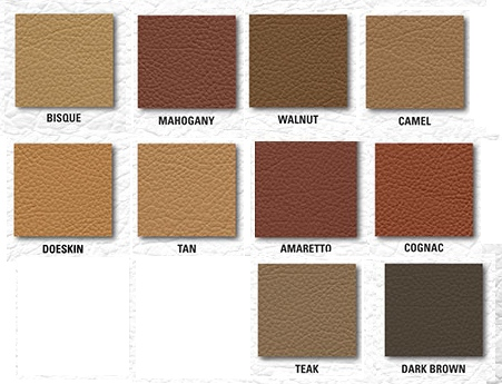 leather swatches browns combined