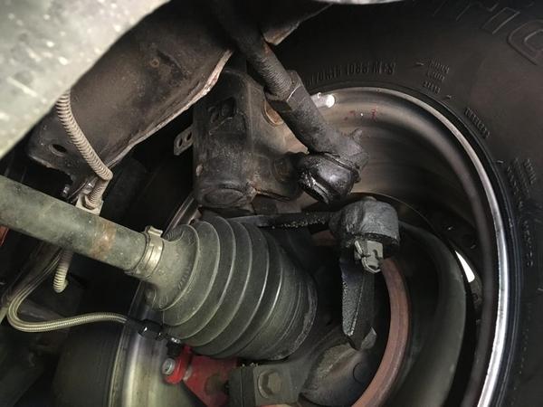 GT40 accident broken tie rod